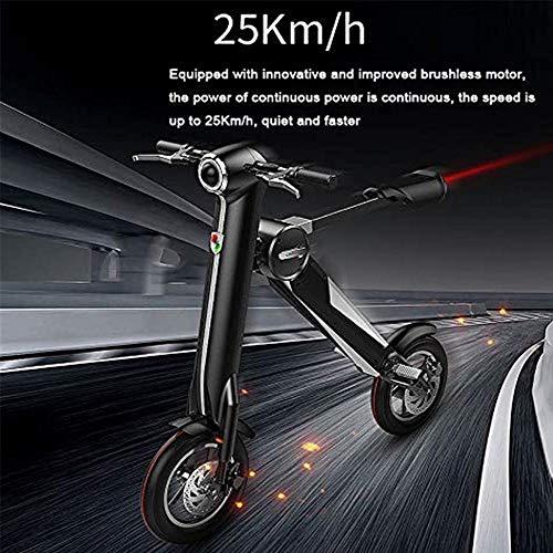 TYZXR Tragbares, zusammenklappbares Elektrofahrrad für den Außenbereich, Höchstgeschwindigkeit von 40 bis 60 Meilen (25 Meilen pro Stunde), LED-Beleuchtung, 36 V, 250 W, geräuscharmer Motor, Lithium-