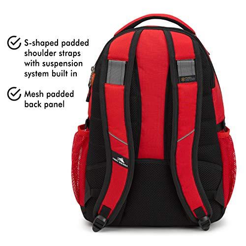 High Sierra Swerve Backpack, Red