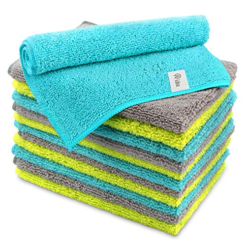 AIDEA Microfiber Cleaning Cloths Softer Highly Absorbent, Lint Free Streak Free for House, Kitchen,...