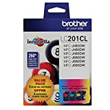 Brother LC201 (C,M,Y) 3- pack Toner in retail packaging