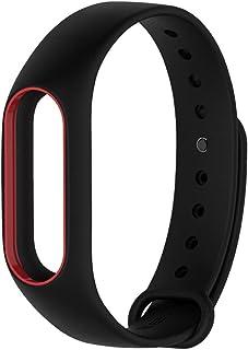 Pulseira extra para Xiaomi mi band 2 (Preto com vermelho)
