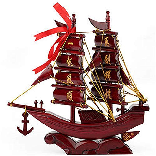 Learn More About NBRTT Wooden Sailboat Model Decoration, Mahogany Carving Ornaments, Fully Assembled...