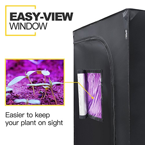 """iPower 32""""x32""""x63"""" Hydroponic Water-Resistant Grow Tent with Removable Floor Tray for Indoor Seedling Plant Growing"""