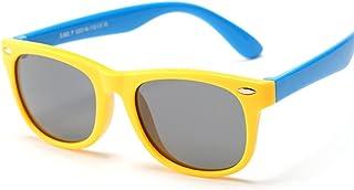 MDKAZ - Gafas de Sol polarizadas clásicas para niños Gafas de Sol de Seguridad de Silicona Niños Niñas Moda Niños Espejo Regalos para la Familia