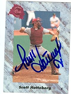 Autograph Warehouse 28996 Scott Hatteberg Autographed Baseball Card Boston Red Sox 1991 Classic Draft Picks No. 88