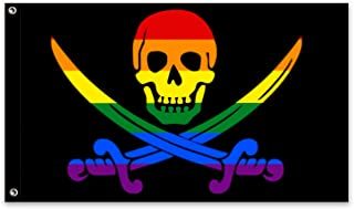 Rainbow Pirate J-olly R-oger Outdoor Flag 3X5 Ft Flag for Home Outdoor s Decorations Banner Gifts