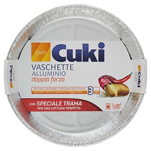 Cuki - Vaschette Alluminio, Doppia Forza, Forno E Microonde - 8 confezioni da 3 pezzi [24...