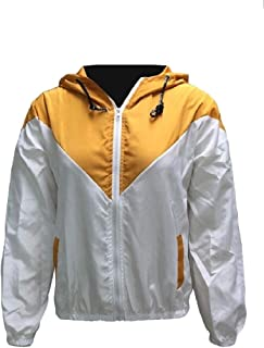 Energy Womens Hooded Plus Size Windproof Contrast Color Zip-up Parka Outwear