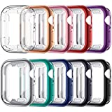 VASG [10 Pack] Screen Protector Case Compatible with Apple Watch Series 6 / SE/Series 5 / Series 4 40mm, Ultra-Thin Soft TPU Plated Bumper Full Cover Protective Cases Compatible with iWatch 40mm