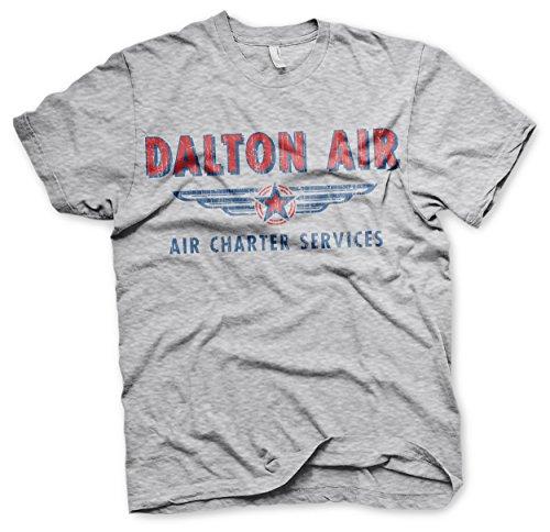 Offizielles Lizenzprodukt Daltons Air Charter Service T-Shirt (H.Grau), Medium