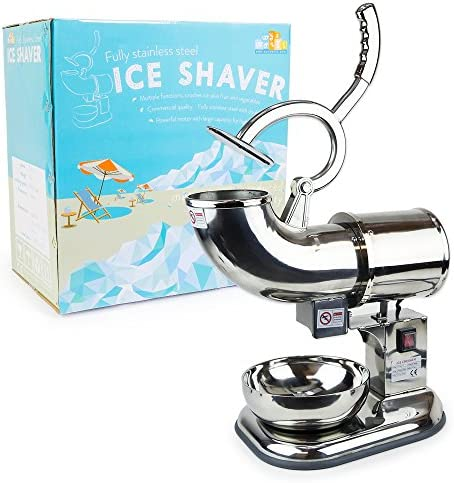 WYZworks Stainless Steel Commercial Ice Shaver Heavy Duty Snow Cone Shaved Icee Maker Machine product image