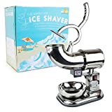 WYZworks Stainless Steel Commercial Ice Shaver Heavy Duty - Snow Cone Shaved Icee Maker Machine