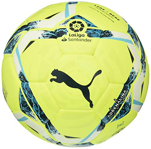 PUMA LaLiga 1 Adrenalina Hybrid Ball Balón de Fútbol, Unisex-Adult, Lemon Tonic-Multi Colour, 5