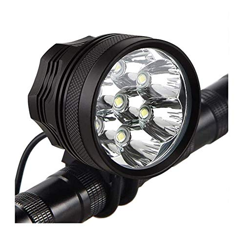 LAFALInK Bike Lights,Waterproof Bicycle Headlight,Super Bright 10000 lumens LED Bike Headlights,with 9000mAh Rechargeable Battery Pack,for Bike All