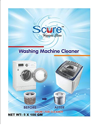 Scure Top/front Load Washing Machine Tub/drum Cleaner Powder/descaler. Set of 7 ; 100 Each