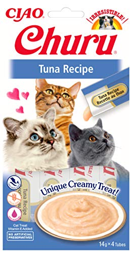 INABA Churu Sticks - Lickable Cat Treats To Feed From Hand - Delicious And Healthy Snack for Cats - Tuna