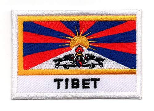 Vlag van Tibet Iron op Patch Naai op Geborduurde Badge toegepast