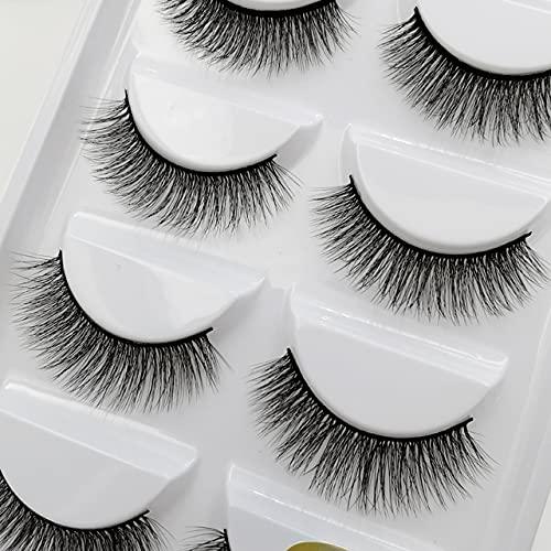 5 Pairs 3D 55% OFF Mink Eyelashes Natural Dramatic False Long Eye Max 88% OFF Hair M