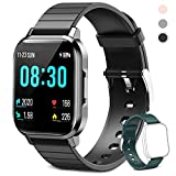 AOYODKG Smart Watch, Fitness Tracker Fitness Watch, IP68 Swimming Waterproof Smart Watch Smar twatch Compatible with iPhone Samsung Android Phones- (Black)