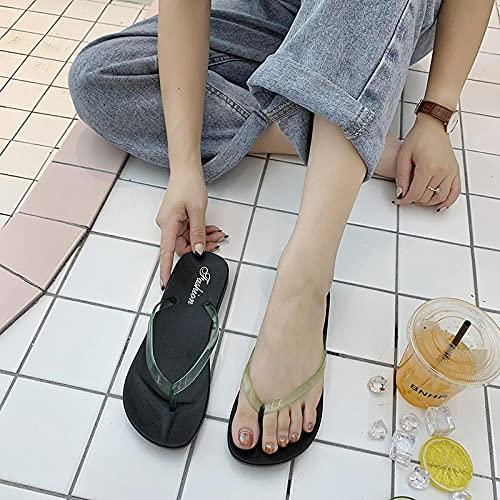 Ririhong Par de Chanclas de Color sólido para Mujer, Sandalias y Zapatillas Casuales de Goma para Hombre, Verano, Antideslizante, Plano, playa-41_Green