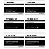 18 Piezas Pegatinas Etiquetas Impermeables para Botellas Dispensadoras Pegatinas de Dispensador de Champú Etiqueta de Granja para Cocina Baño 2,76 x 3,54 Pulgadas