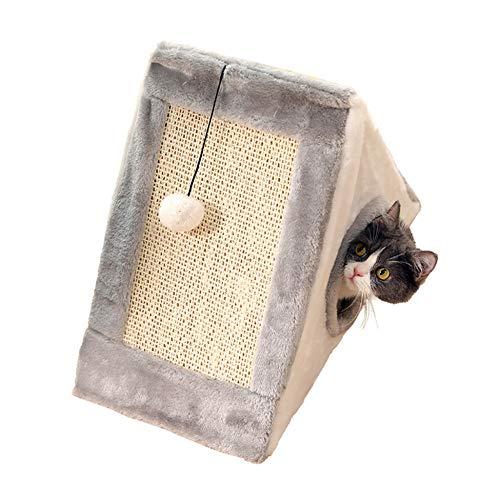 Katzenhöhlenbetten Katzenbetten Haustierbetten Hundebett Warmes Fleece-Nest Für Katzenschlafsofa Waschbares Haustier-Nest Abnehmbare Vier Jahreszeiten Kleine Hunde Welpen Katzen Kaninchen,Grey-small