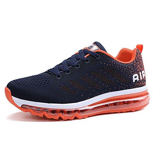 Fexkean Unisex Herren Damen Sneakers Sportschuhe Bequeme Laufschuhe Schnürer Air Running Shoes 35-45(833OR41)