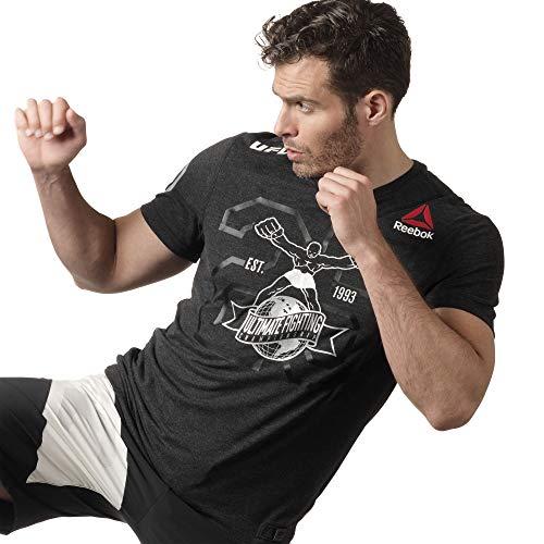 Reebok UFC - Camiseta de Manga Corta para Hombre