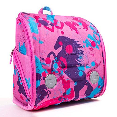 YUU, mochila HUUG rosa con juego de actividades gratis para viajes, para jugar y para cada día -