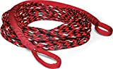 WARN 102557 Spydura Nightline Reflective Synthetic Winch Cable Rope Extension with Loop Ends: 3/8' Diameter x 50' Length, 6 Ton (12,000 lb) Capacity