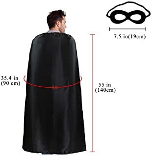 D.Q.Z Superhero Capes and Masks for Adults Bulk Men Women Super Hero Halloween Dress Up Costume Party Favors,10 Pack