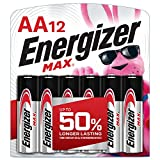 Energizer AA Batteries (12 Count), Double A Max...