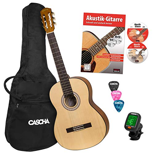 CASCHA Student Series 4/4 Classical Guitar Starter Set...