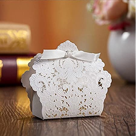 White Cardstock Wedding Party Favour Boxes BARGAIN 85mm x 58mm x 23mm dance Party Xmas anniversary birthdays engagement 50 boxes for 6.50