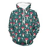 Sudaderas con capucha de seta transpirable con bolsillo de canguro bifurcado para hombres y mujeres para la vida cotidiana, color blanco 5XL