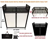 DJ Event Facade White/Black Scrim Metal Frame Booth + 20' x 40' Flat Table Top Includes Both White and Black Panels + Carrying Cases!