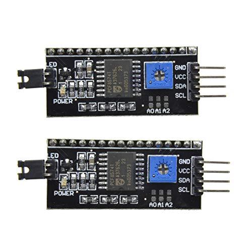 Aideepen 2個セット IIC / I2C / TWI シリアルインタフェースボードモジュール1602 2004 LCDディスプレイArduino に対応