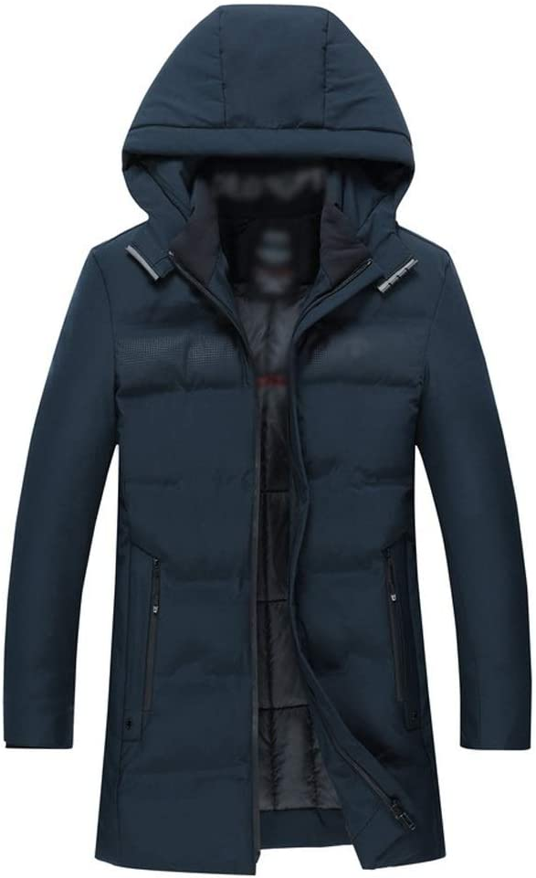 AMYAL Men's Down 55% OFF Jacket with Hooded Wint Removable Cap New York Mall Insulated