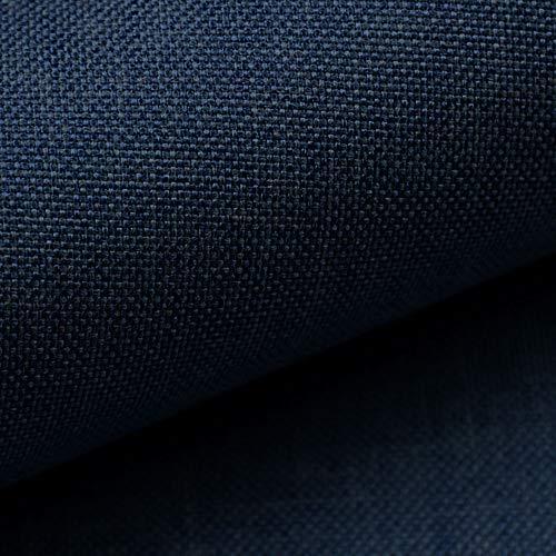 NOVELY® LUSO | 1 lfm | Feiner Stoff Polsterstoff Bezugsstoff Meterware Möbelstoff (34 Dunkelblau)