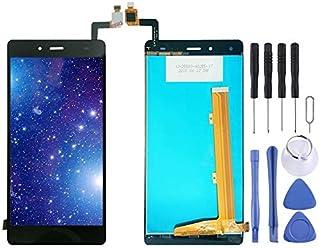 مجموعة كاملة من شاشة LCD ومحول رقمي من Lingland من أجل Tecno Infinix Hot 4 X557 (أسود) الهاتف الخليوي الخلفي يغطي أجزاء ال...