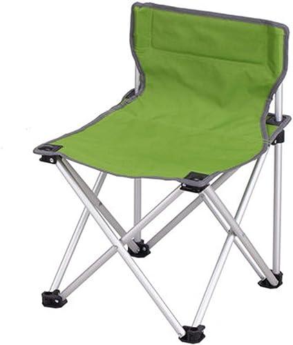 Chaise De Camping Pliable Aluminium Pêche Pêche Chaise De Loisirs Portable Chaise De Plage Portable Croquis En Plein Air (Couleur   vert)