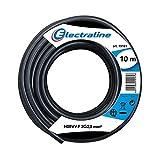 Electraline 11821 Cable para Extension H05VV-F, Sección 3G2.5 mm, 10 m, Negro...
