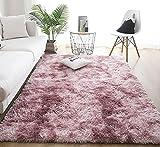 Alfombras de Interior Modernas Ultra Suaves, alfombras mullidas para Sala de Estar, adecuadas para el Dormitorio de los niños, decoración del hogar, alfombras de guardería (Rosa Morado, 60 x 160 cm)