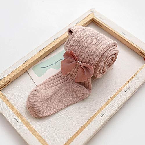 ROUNDER 2-4 años Calcetines para niños Calcetines de algodón Bowknot Leggings para niños bebé bebé Grandes PP Pantimedias Finas 3 Piezas-almidón de raíz de Loto