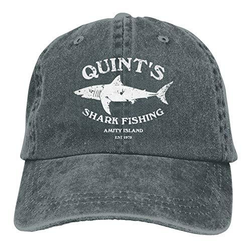 Quints Shark Fishing Jaws Cowboy Hat Adjustable Cowboy Baseball Cap Deep Heather