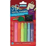 Stylex 25105 - Textilfarben mit 3D Effekt, 6 Tuben -