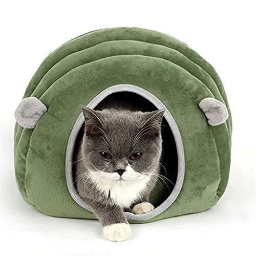RAIN QUEEN Katzenbett Iglu Höhle Schlafsack Haustier Warmes Haus Kissen abnehmbar waschbar Indoor-Nest Bett für Katzen Welpen