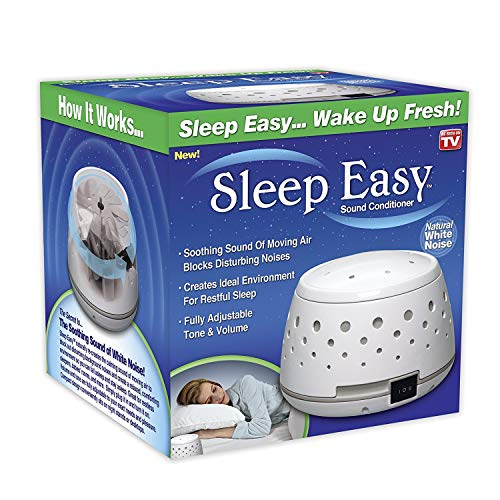 Sleep Easy Sound Conditioner, White Noise Machine Featuring Non Looping Soothing Natural Sound of Flowing Air from a Real Fan