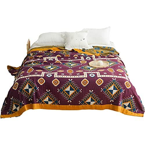 KLily Manta De Toalla Impresa Moderna Manta De Aire Acondicionado De Oficina Adecuado para Manta De Siesta De Los Niños En El Dormitorio Material Lavable