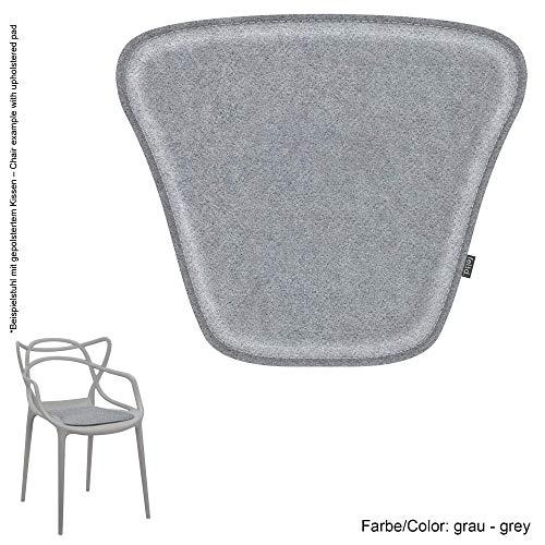 Feltd. Eco Filz Kissen geeignet für Kartell Masters - 29 Farben - optional inkl. Antirutsch und gepolstert! (grau)